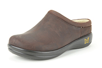 Alegria Kayla Gravy leather open back clog for women
