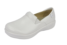 Alegria Keli PRO White Waxy comfort loafer for women