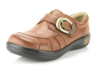 Alegria Khloe Burnish Brown comforatable leather loafers for women
