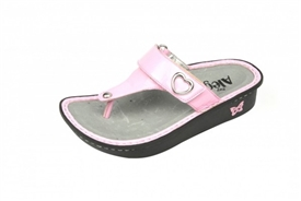 Alegria Kids Carina Pink Patent leather casual sandal for girls