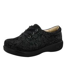 Alegria Kimi PRO Black Leaf womens lace-up comfort shoe