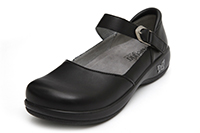 Alegria Kyra Black Leather womens slip resistant comfort shoes
