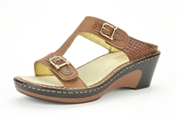 Alegria Lara Burnish Snake leather comfort wedge sandal for women