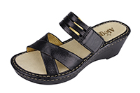 Alegria Leila Black Crackle Sandal