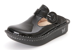 Alegria Kids Lena Classic Black Patent leather clogs for girls