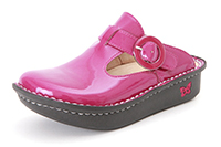 Alegria Kids Lena Classic Fuchsia Patent leather comfort clogs for girls