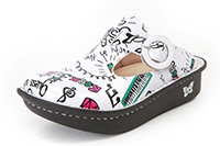 Alegria Kids Lena Classic Rock Star White shoes for girls
