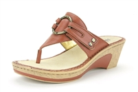Alegria Lola Cognac leather wedge sandal for women on sale