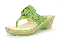 Alegria Lola Vert thong wedge sandal for women on sale