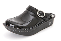 Alegria Kids Louise Seville Black Patent leather clog for girls