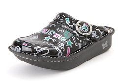 Alegria Kids Louise Seville Rock Star Black girls leather shoes