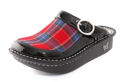 Alegria Kids Louise Seville Tartan girls leather comfort clogs