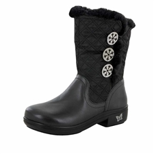 Alegria Nanook Quilted Black Mid Calf Boot