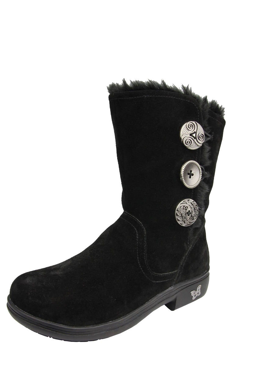 Alegria Nanook Black Suede Boots The Alegria Shoe Experts