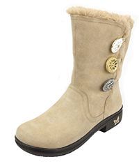 Alegria Sand Suede Boot