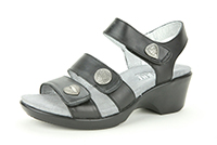Alegria Olivia Dusty Black leather comfort sandal for women