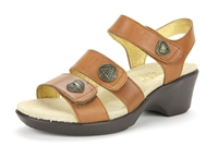 Alegria Olivia Cognac Burnish womens leather comfort sandal