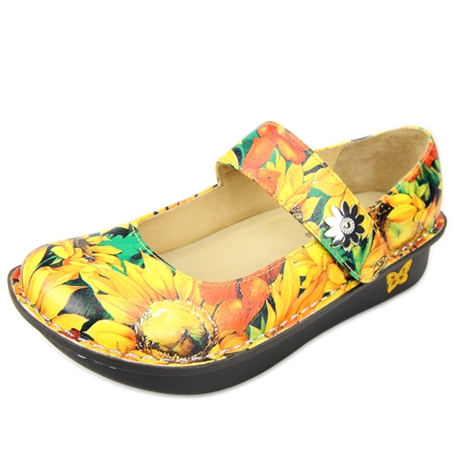 Nurse Alegriashoes Paloma Pro Sunflower Mary Jane Alegria
