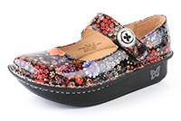 Alegria Paloma Midnight Garden Patent womens slip resistant mary jane