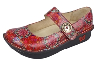 Alegria Paloma Red Bloom leather comfort shoe for women