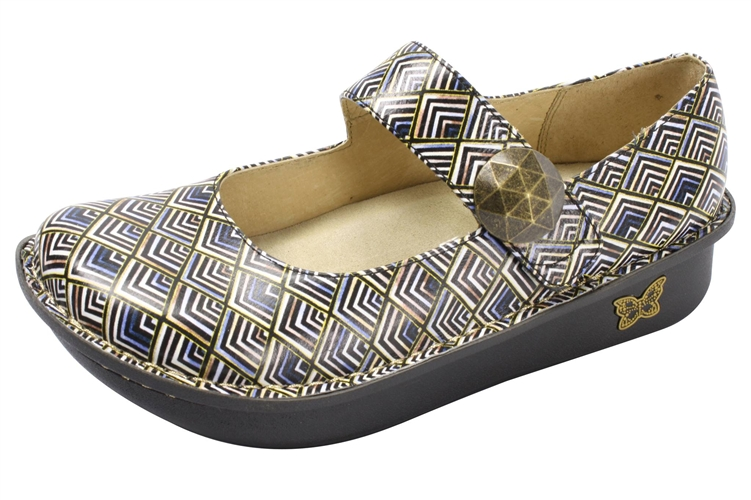 Alegria Paloma Gold Leaf leather comfort shoe for women