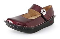 Alegria Paloma Wine Glitter Patent leather womens comfort shoes