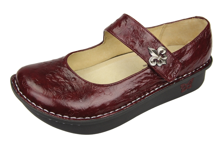 Alegria Shoes Paloma Pro Wine Fleur Mary Jane Free Shipping