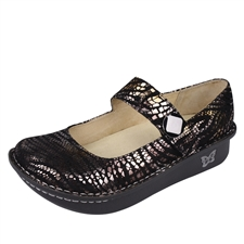 Alegria Paloma Onyx Jungle leather comfort shoe for women