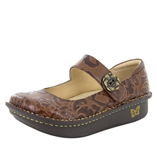 Alegria Paloma Yeehaw Brown womens leather comfort mary jane shoes