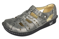 Alegria Pesca Pewter Easy womens leather low profile comfort shoe