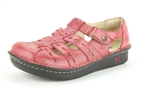 Alegria Pesca Berry Burnish womens leather comfort shoe sandal
