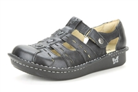 Alegria Pesca Black Magic womens leather comfort shoe sandal