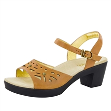 Alegria Reese Cognac Burnish womens comfort sandal