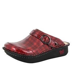 Alegria Seville Cherry Cube comfort clog shoes for women