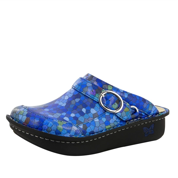 Alegria Seville Honeycomb Blues comfort clog shoes for women