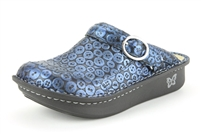 Alegria Seville Button Up womens leather open back nursing shoes