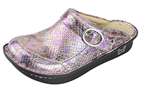 Alegria Seville Shimmer Me Timbers womens leather comfort clog