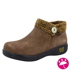 Alegria Sitka Choco Gold womens comfort ankle boot