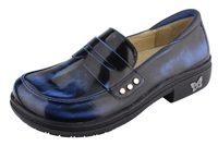 Alegria Taylor Brush Off Blue womens comfort loafer replaceable insoles