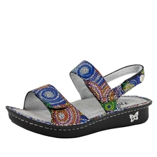 Alegria Verona Bullseye leather strap comfort sandals for women