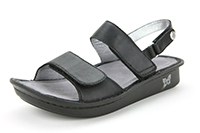 Alegria Verona Black Napa womens leather comfort sandal