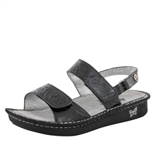 Alegria Verona Yeehaw Black womens leather comfort sandal