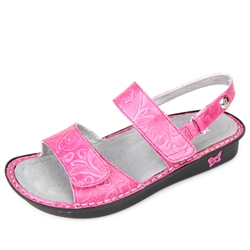 Alegria Verona Dolly Fuchsia womens leather comfort sandal