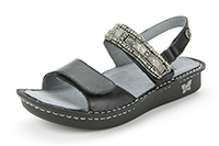 Alegria Verona Antique Pewter leather strap comfort sandals for women