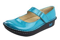Alegria Kids Vinca Paloma Teal Patent comfort shoes for girls