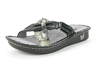 Alegria Violet Black Multi womens leather comfort sandals on sale