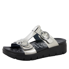 Alegria Vita Pewter Patent comfort sandals for women