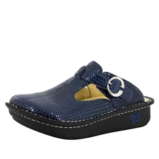 Alegria Classic Jazzy Blue womens open back clog
