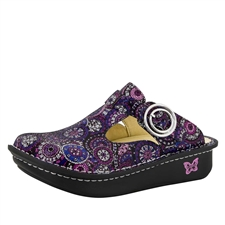 Alegria Classic Spiro Purple womens open back clog