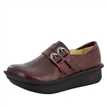 Alegria Alli Oxblood Bloom slip resistant women's comfort shoe